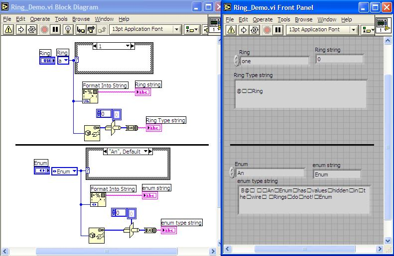 How Does Labview 8 Handle Ring Constants Discussion