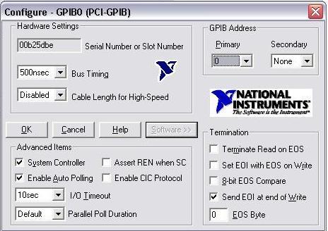 National instruments pci-gpib