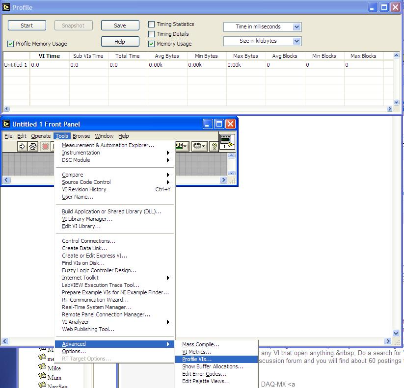 Finding Memory Leak in LabVIEW - NI Community - National Instruments