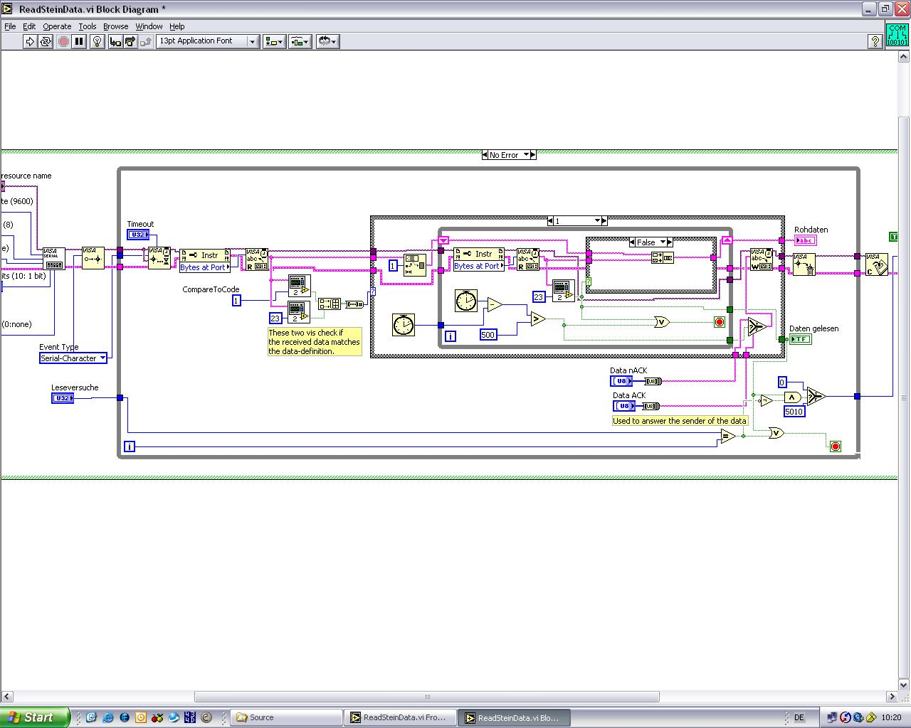 Error -1073807253 by using 2 serial ports - comp lang labview