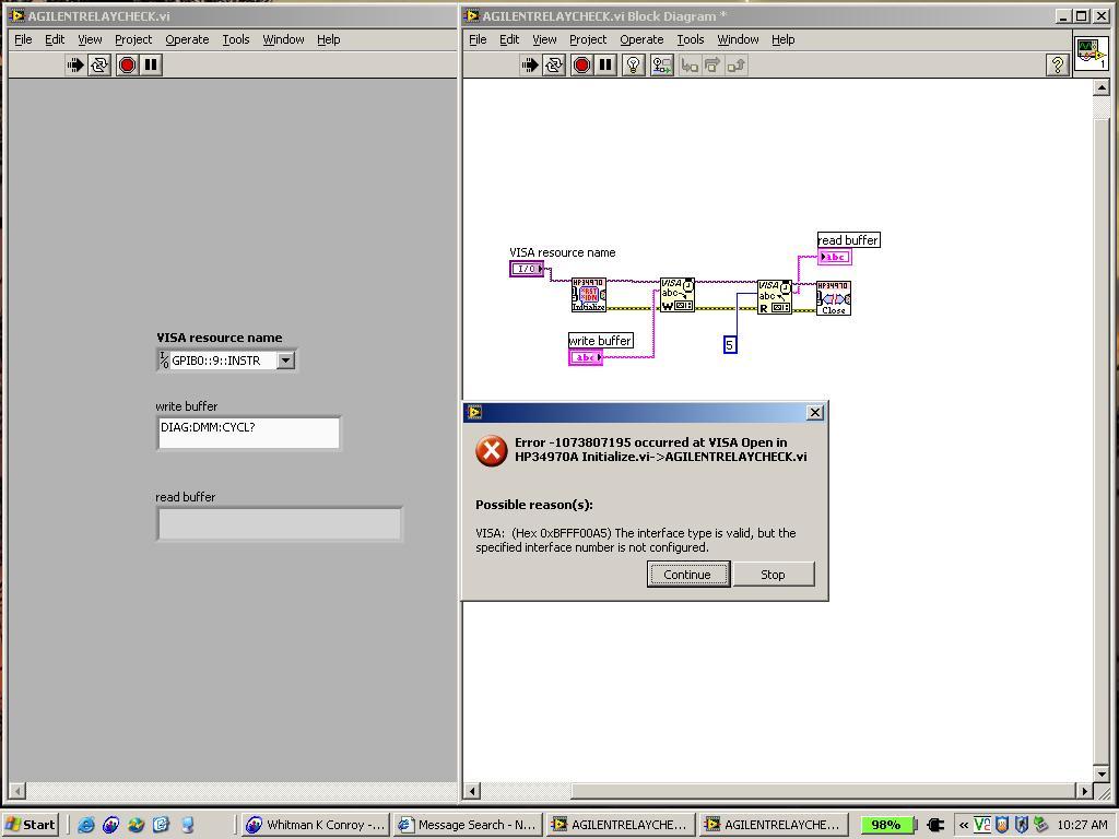 Agilent 34970A and Agilent 82357A GPIB/USB cable  - comp
