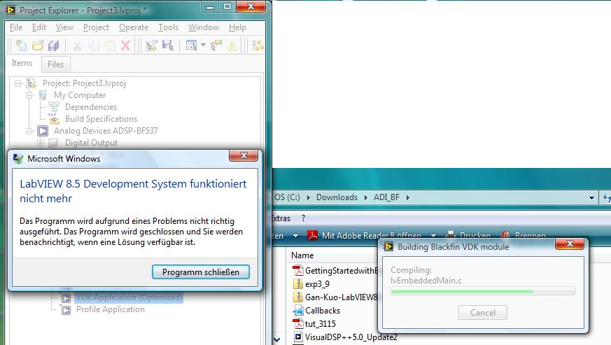 NI ELVIS Quanser LABview 8 2 compatability problems - comp lang labview