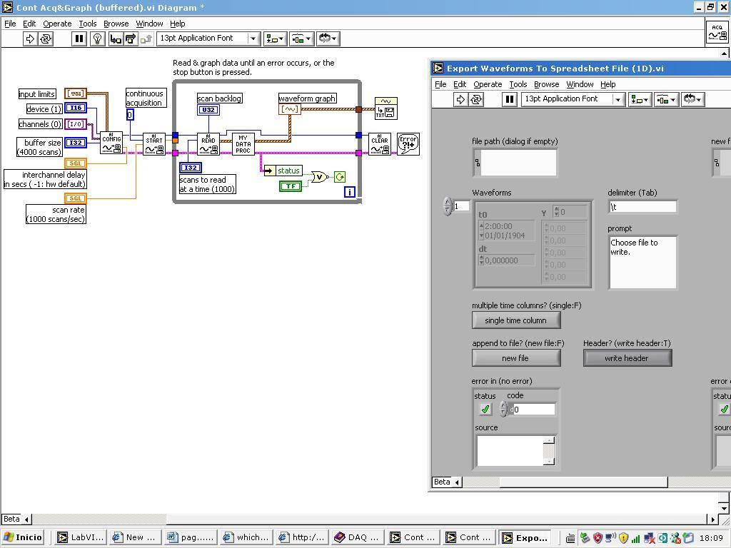 How to save data into a excel file - comp lang labview