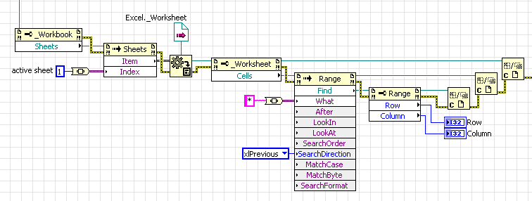 How to get the range of data from excel files with labview ...