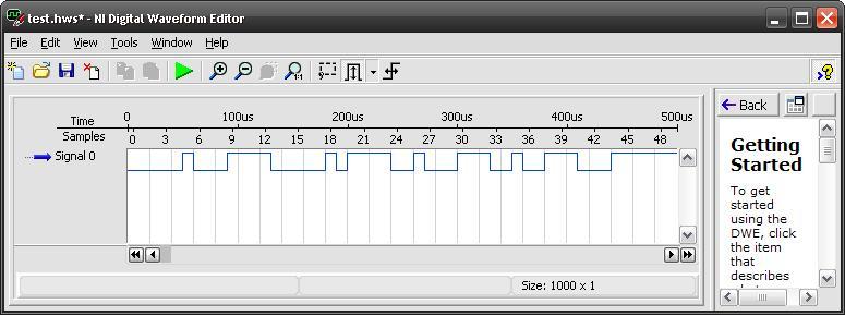 Arbitrary digital pulse waveform generation using PCIe-6259 ...