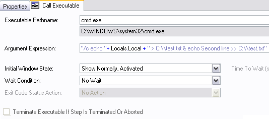 How do I send local string variable data to a text file