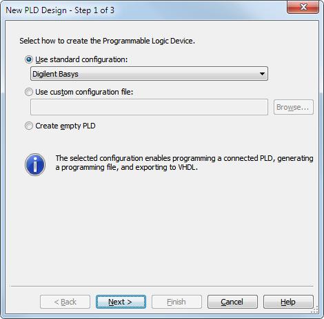 Multisim PLD Configuration Files for the Digilent Basys FPGA