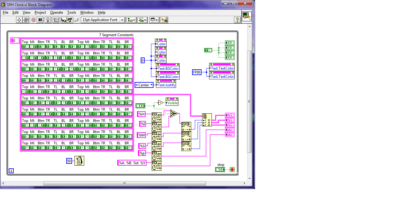 Digital Clock In Labview 2009 Sp1 Discussion Forums National 7 Segment Block Diagram Front Panel