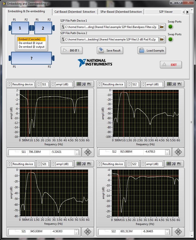Free S-parameter Embedding and De-embedding Tool - NI