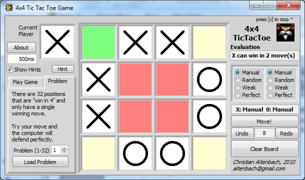 A full featured 4x4 Tic Tac Toe Game - NI Community
