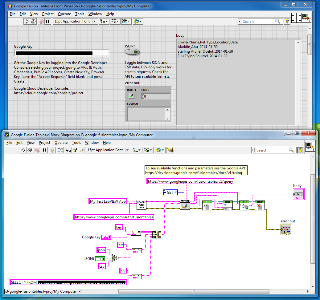 LabView interface for Google Fusion Tables - NI Community
