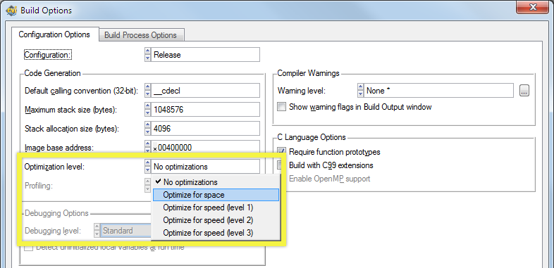LabWindows/CVI Tip: Set Compiler Optimization Levels - NI