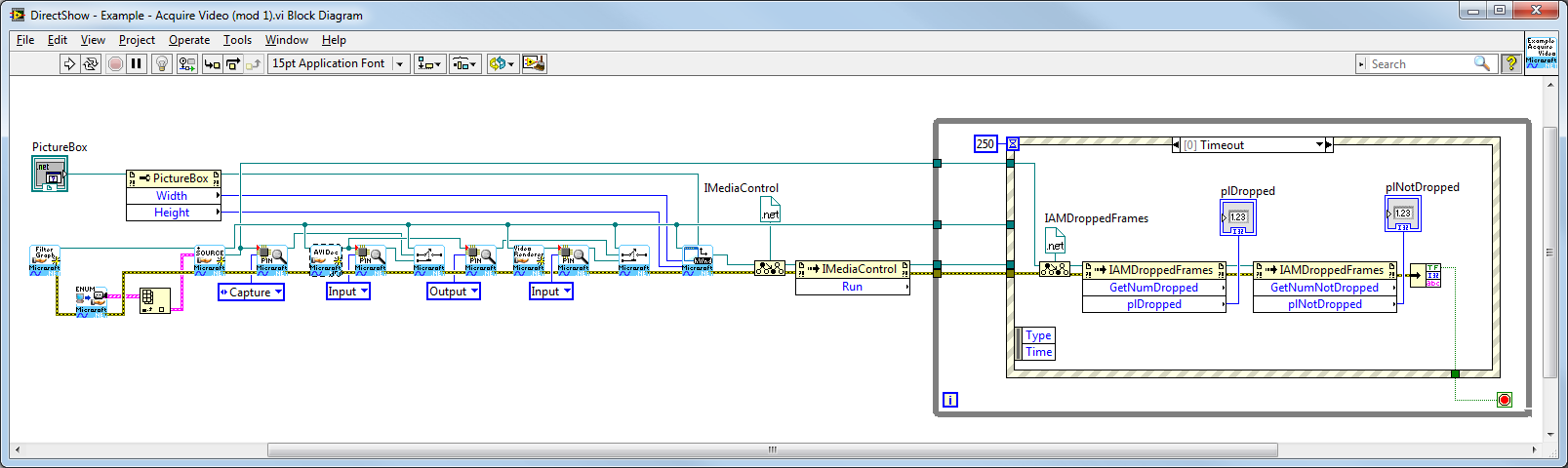 DirectShow  NET LabVIEW SDK (Video, Audio, IP streams) - NI