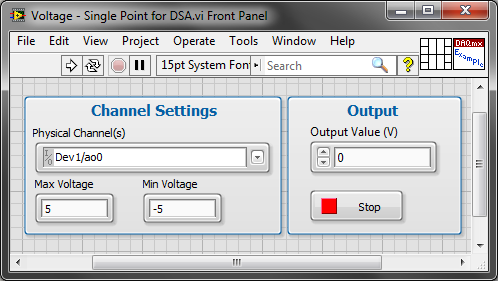 Output a DC Voltage with a NI DSA Card - NI Community - National