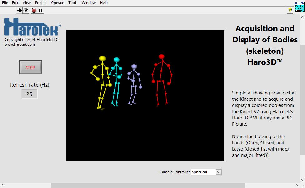 Kinect 2 - Haro3D VI Library - NI Community - National