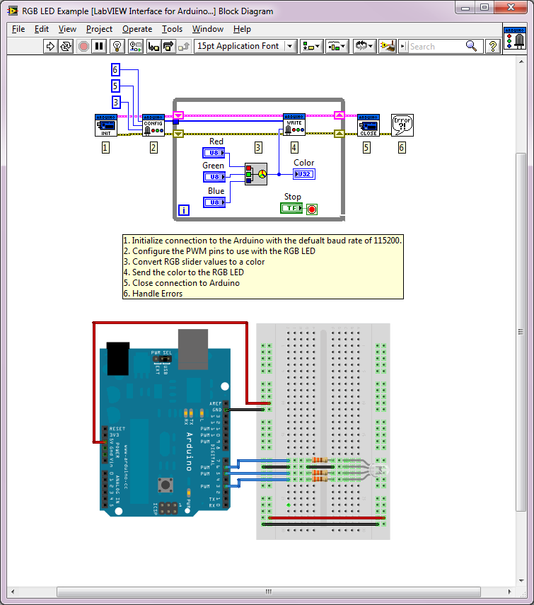 Arduino example rgb led discussion forums national