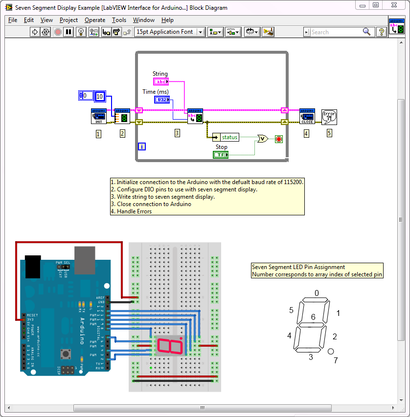 Arduino Example  Seven Segment Display - Ni Community