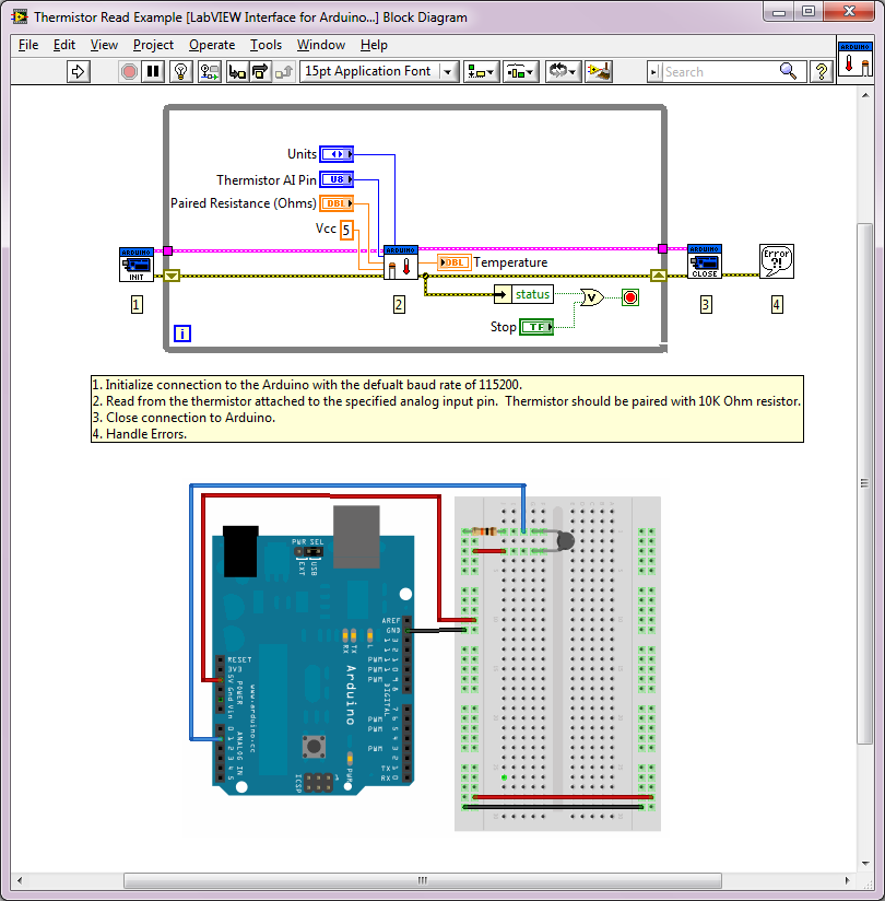Arduino Example: Thermistor Read - NI Community - National Instruments