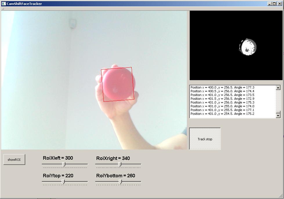 OpenCV and Qt GUI CamShift tracker - NI Community - National
