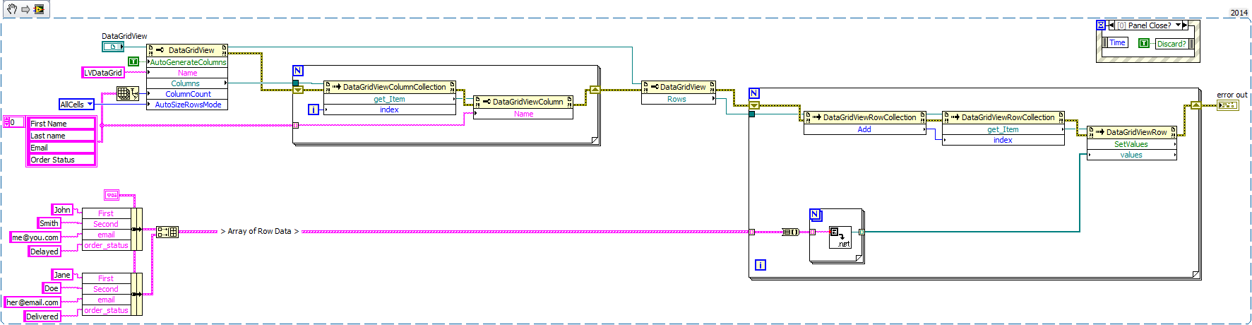 NET Datagrid (table control) in LabVIEW UI - NI Community - National