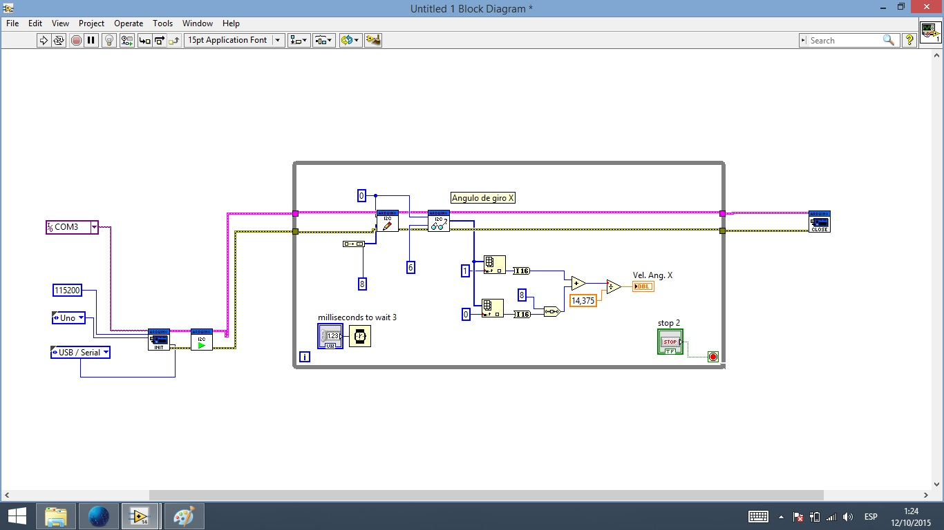 Interface labview arduino gyroscope i c discussion