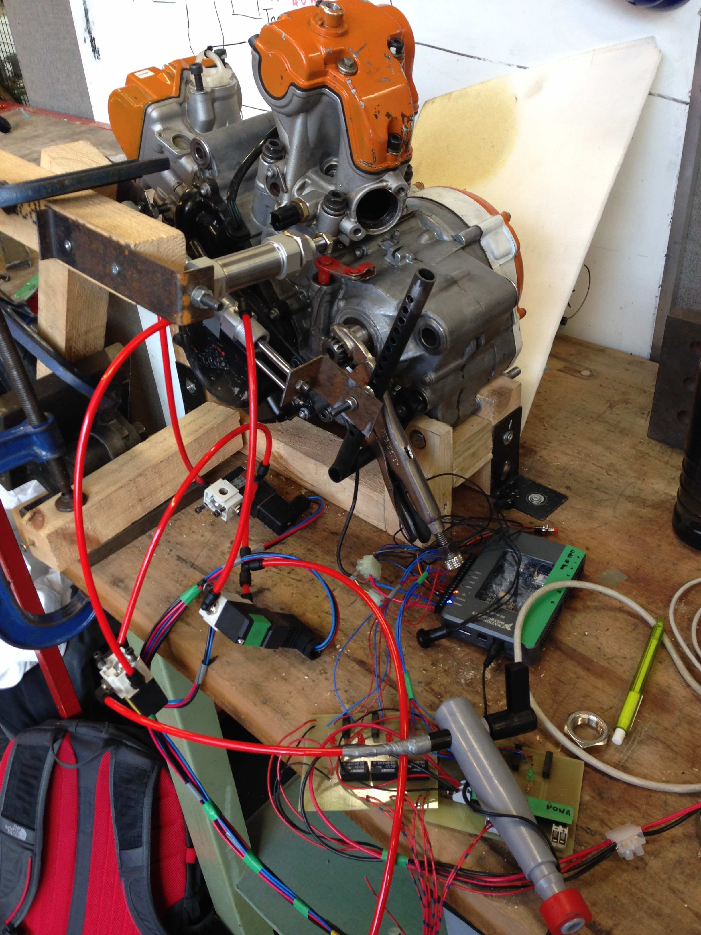 Pneumatic shifting system for a bustion Formula Student car using LabVIEW and myRIO  NI