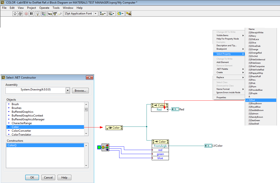 Create Net Color Reference From A Labview Vi Discussion Forums Block Diagram Ref