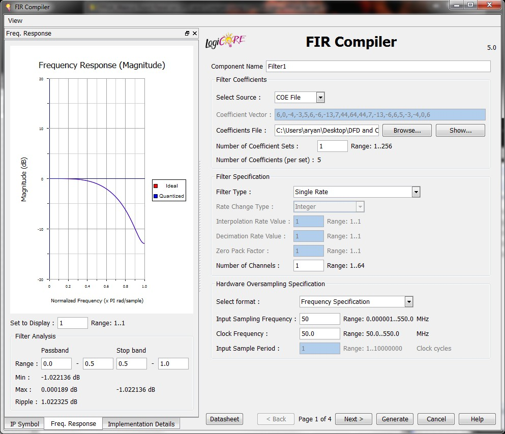 polyphase interpolation fir filter on fpga with dfd and coregen - ni community