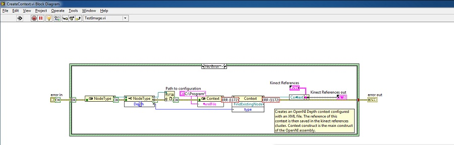 User Tracking with LabVIEW and Kinect based on the OpenNI Interface