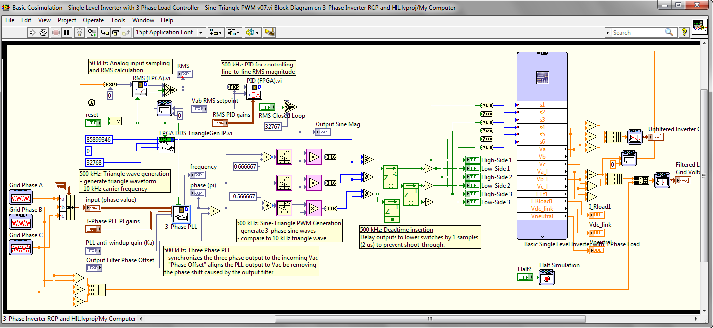 Open Source Reference Design Fpga Based State Space Real Time Hil Three Phase Inverter Circuit Simulation Of 3 Discussion Forums National Instruments