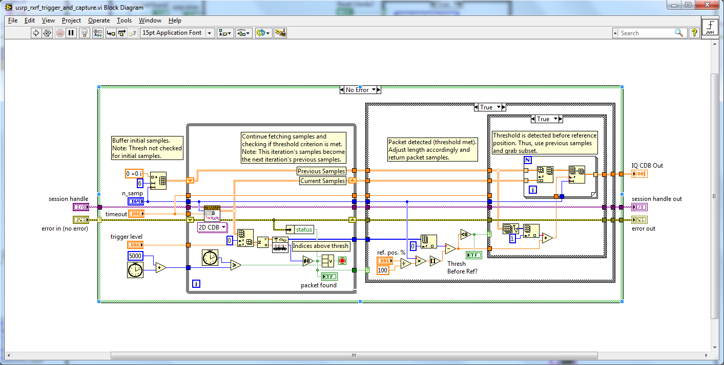 6x6 Mimo Ofdm System With Ni Usrp And Labview Communications Example Of Block Diagram Figure 8 The Rxrf Trigger Capturevi