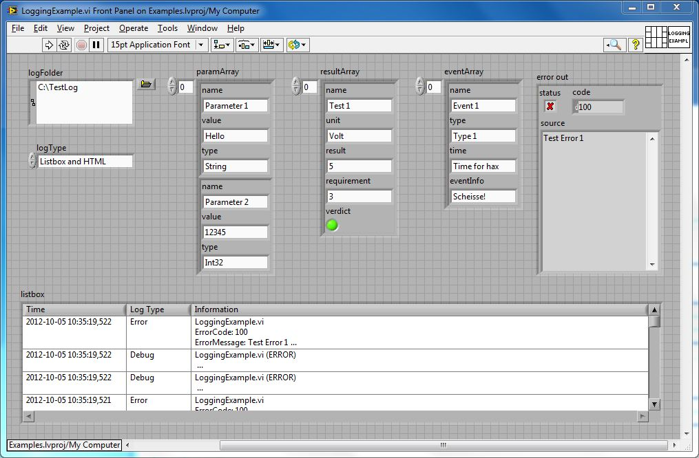 Object Oriented Logging With LabVIEW - NI Community - National