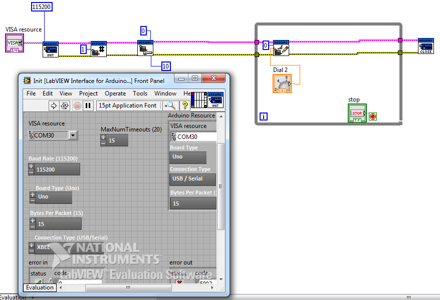 Beginner connection labview xbee discussion forums national 2meg ccuart Image collections