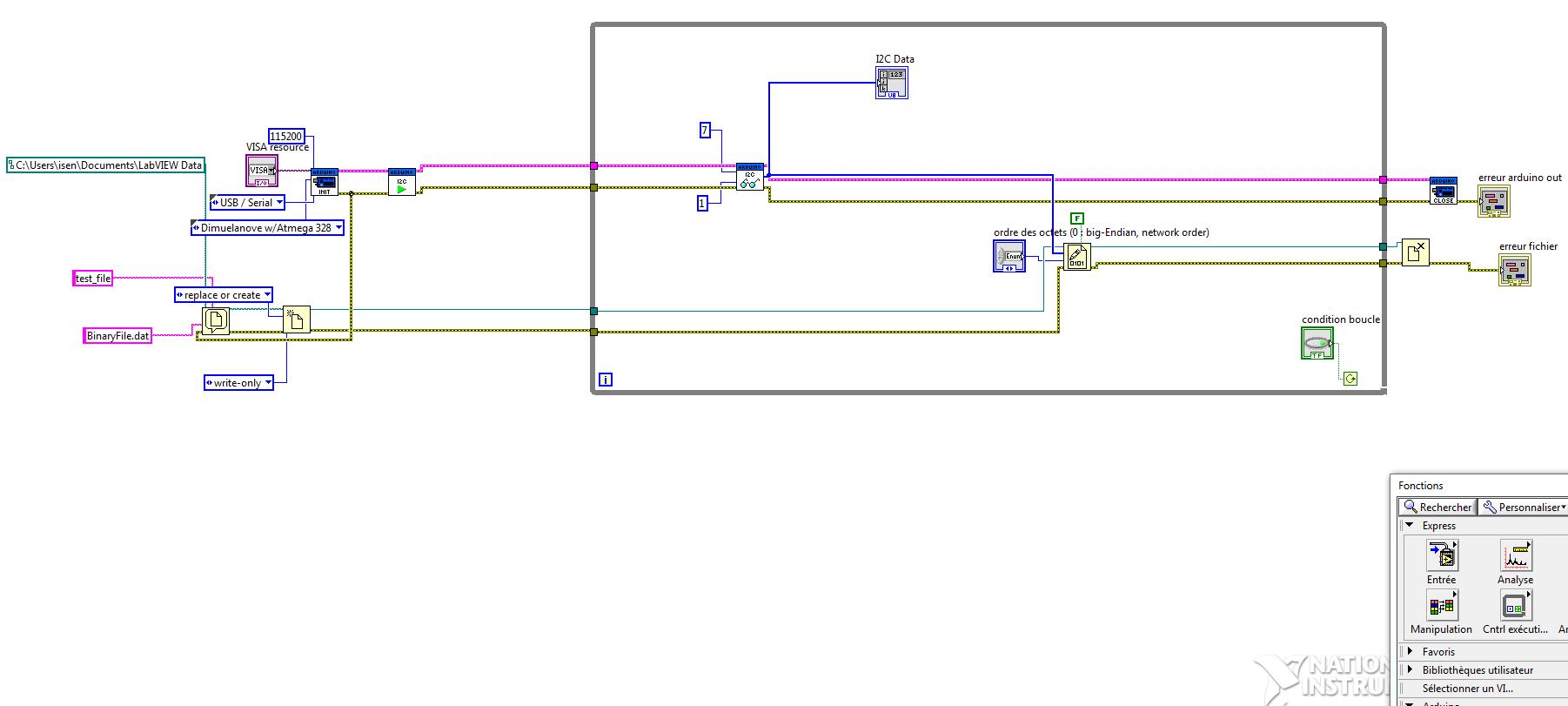 Labview-Arduino I2C error 5003 - NI Community - National
