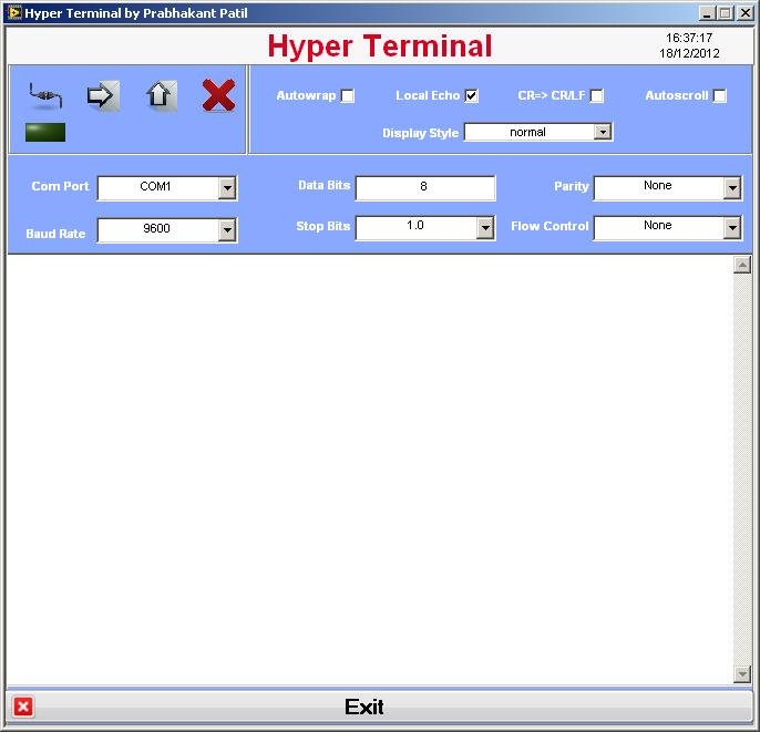 Hyper Terminal RS 232 & Serial Port Test - NI Community