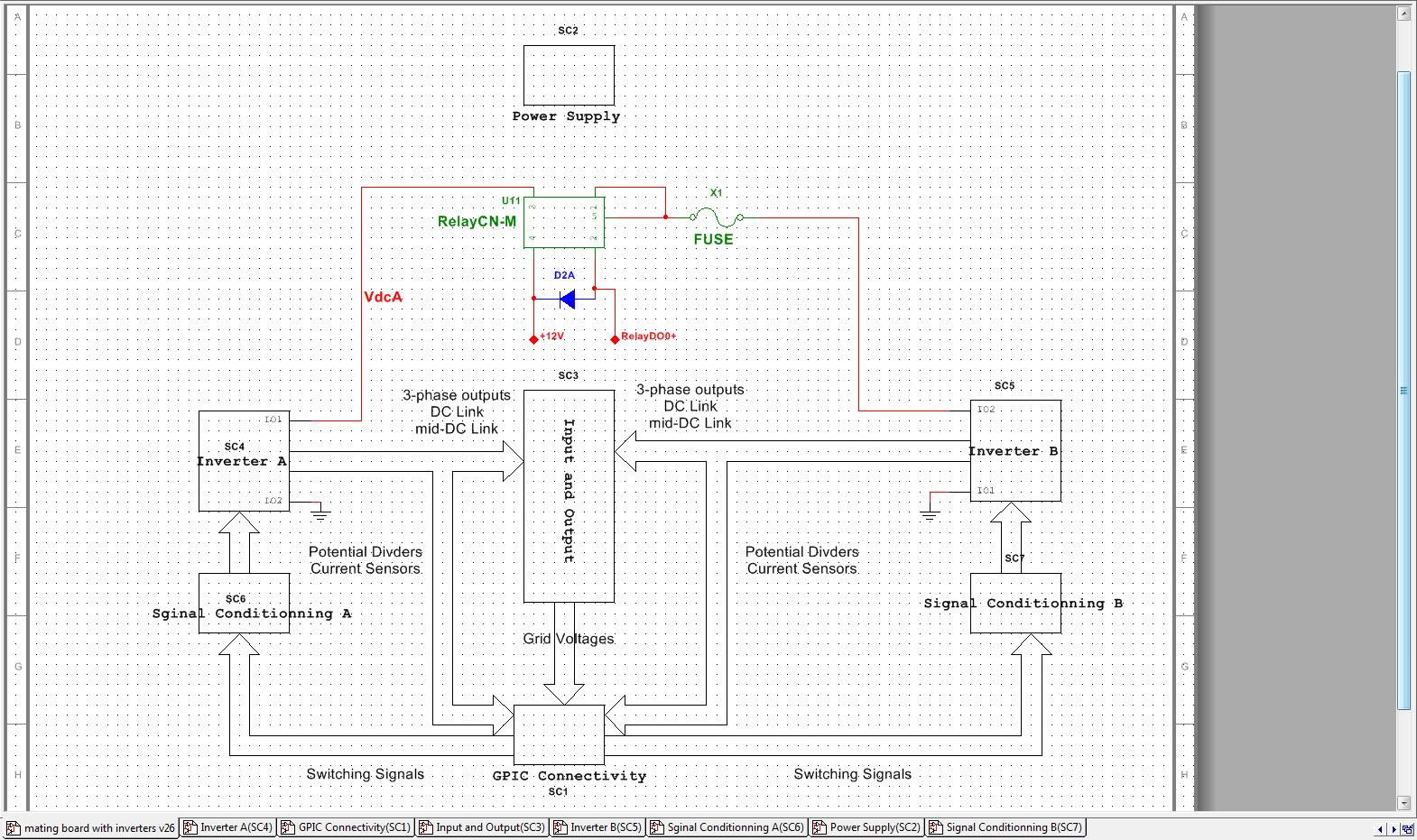 Gpic Power Converter Control Development System Mini Scale Skiip3 Re Circuit Diagram For An Inverter Research Board Schematic