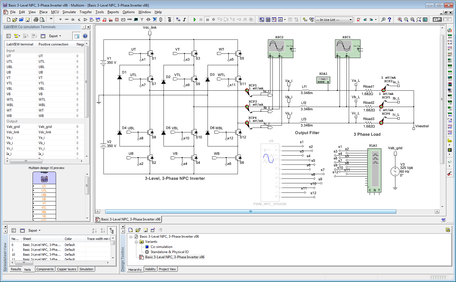 Three Level12 Switch Converter Switching Using Svpwm Discussion 3 Phase Inverter Block Diagram Level Npc Labview