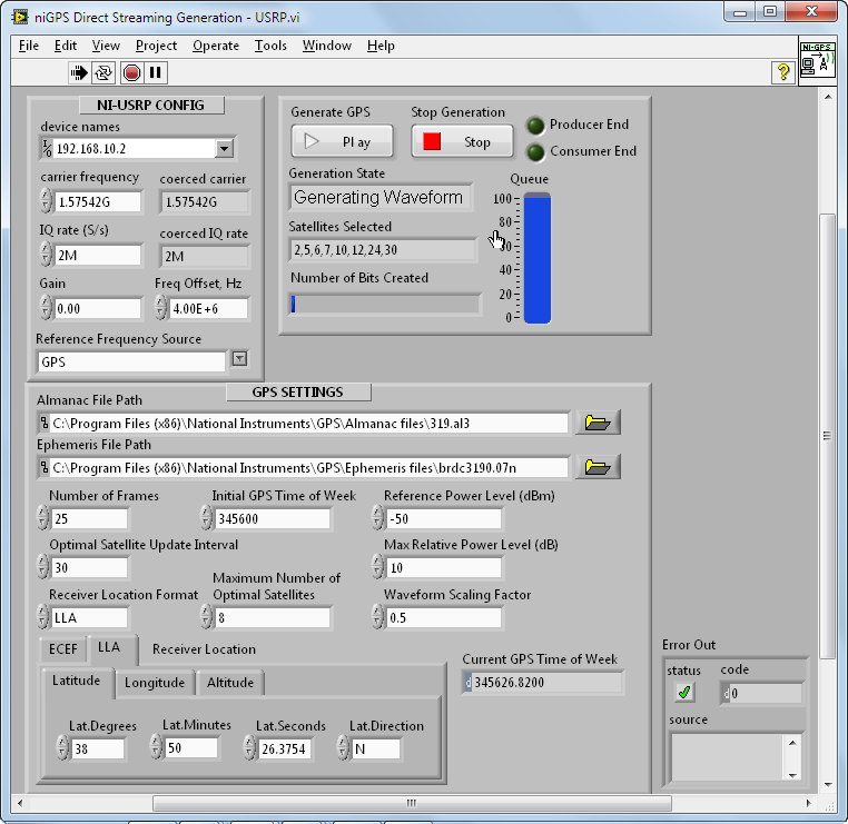 GPS Simulation with NI USRP and LabVIEW - NI Community