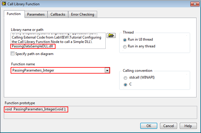 Tutorial: Configuring the Call Library Function Node to call