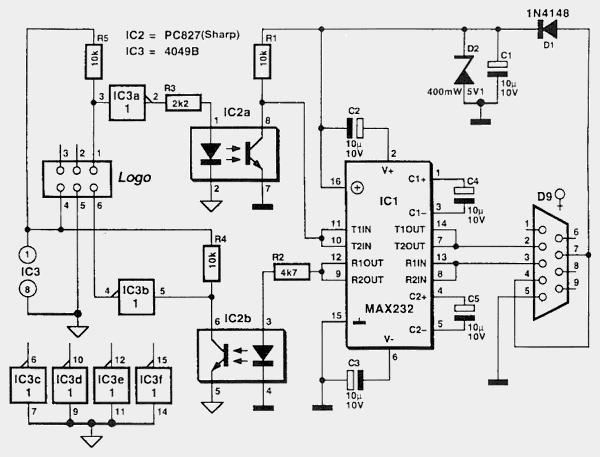 Миниатюры.  Re: Кабель для LOGO!  Схема найденная в интеренете.