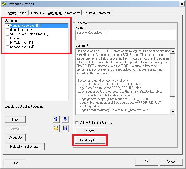 TestStand Database Options Dialog.png