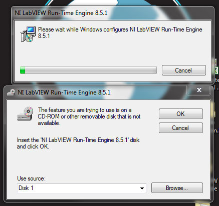 Solved: NI Vision Run-Time Engine (incompatible with ...