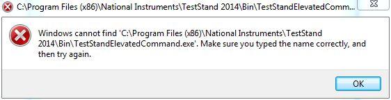 TestStandElevatedCommand Not Found.JPG
