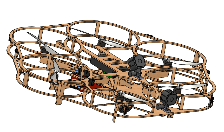 CAD model of the drone.