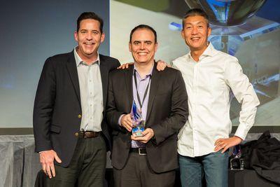 Armando Valim accepts Impartner Founder's Award on behalf of the NI Alliance Partner Network