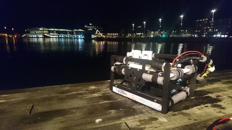 Figure 8. The AUV in the city harbour of Aarhus