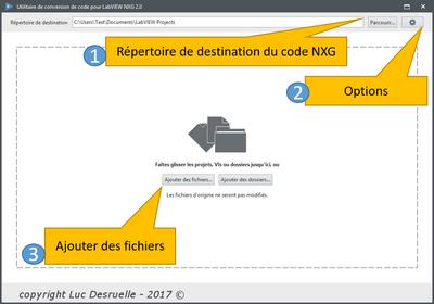 Importer du code de LabVIEW Standard vers LabVIEW NXG