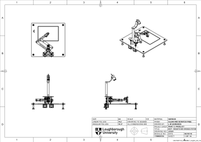 Assembly drawing of the final system, taken from CAD model