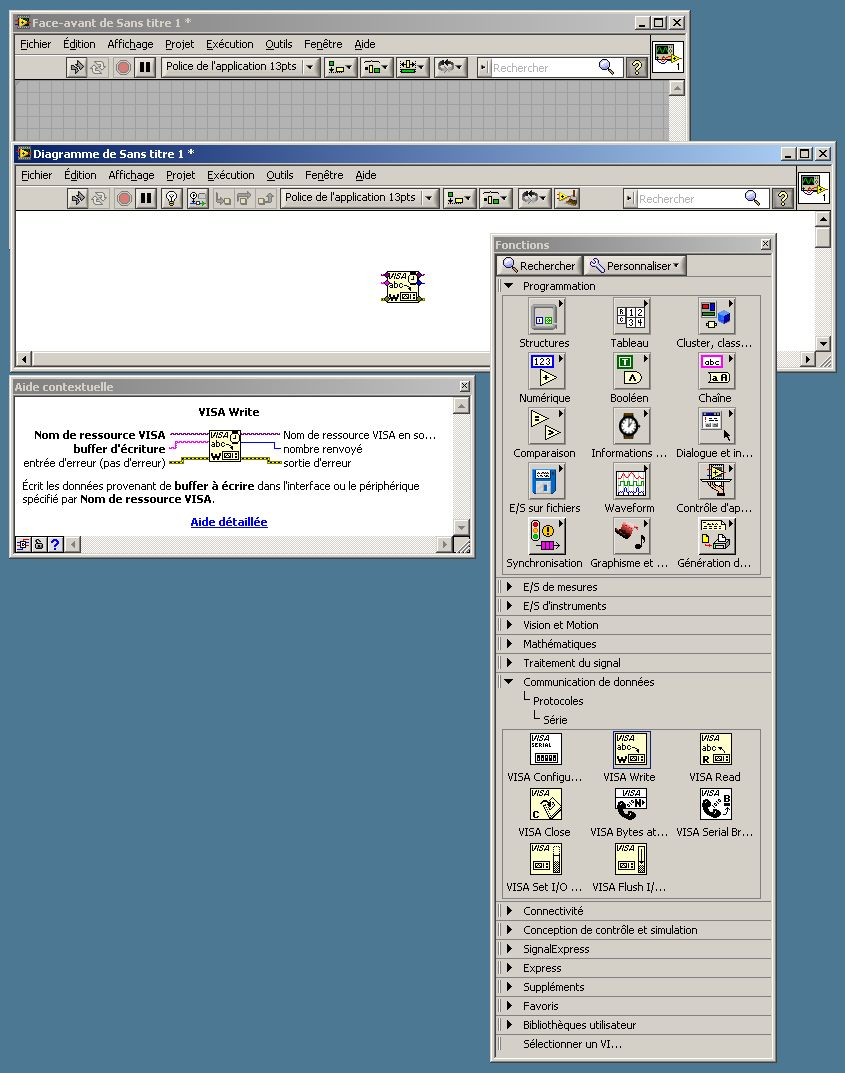 Labview visa write synchronous learning