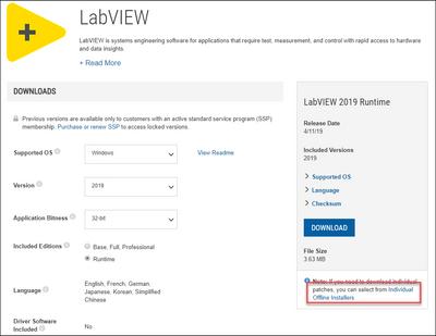 ni product installers - lv rte offline installer link.png